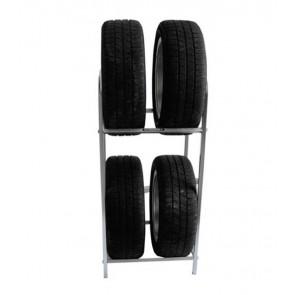 Regál na pneumatiky, pozink, 4 ks pneumatik