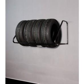 Nástěnný regál na pneumatiky - černý