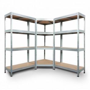 Regálový systém Corner, 180x180x180x45cm - 250kg