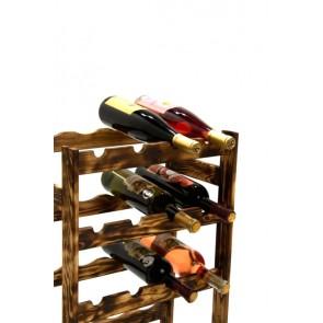 Regál na víno Rovan, 16 lahví, Rustikal, 54x44x25 cm