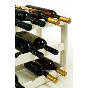 Regál na víno Riper, na 12 lahví, Lazur - bílý, 38x44x25 cm