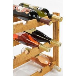 Regál na víno Riper, na 12 lahví, Lazur - kaštan, 38x44x25 cm