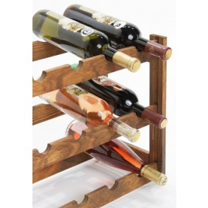 Regál na víno Riper, na 12 lahví, Lazur - palisandr, 38x44x25 cm