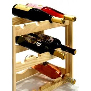 Regál na víno Riper, 12 lahví, Natur, 38 x 44 x 25 cm