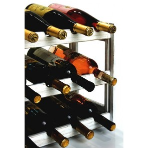 Regál na víno Riper, na 12 lahví, Provance - bílý, 38x44x25 cm