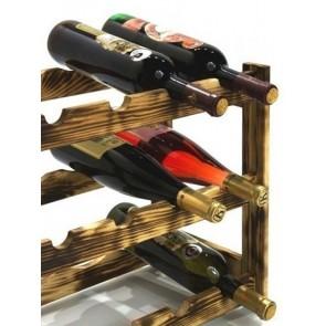 Regál na víno Riper, 12 lahví, Rustikal, 38x44x25 cm
