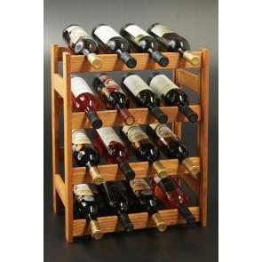 Regál na víno Rovan, na 16 lahví, Lazur - kaštan, 54x44x25 cm