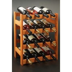 Regál na víno Rovan, 16 lahví, Lazur mahagon, 54x44x25 cm