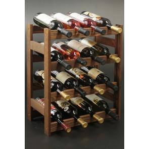 Regál na víno Rovan, na 16 lahví, Lazur - palisandr, 54x44x25 cm