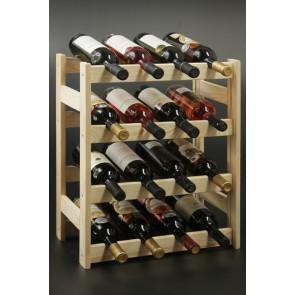 Regál na víno Rovan, 16 lahví, Natur, 54x44x25 cm