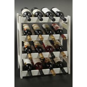 Regál na víno Rovan,16 lahví, Provance - bílý, 54x44x25 cm