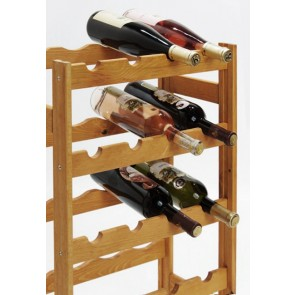 Regál na víno Rifor, na 20 lahví, Lazur - kaštan, 70 x 44 x 25 cm