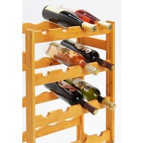 Regál na víno Rifor, na 20 lahví, Lazur - mahagon, 70 x 44 x 25 cm
