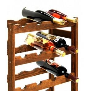 Regál na víno  Rifor, na 20 lahví, Lazur - palisandr, 70 x 44 x 25 cm