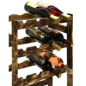 Regál na víno Rifor, na 20 lahví, Rustikal, 70x44x25 cm