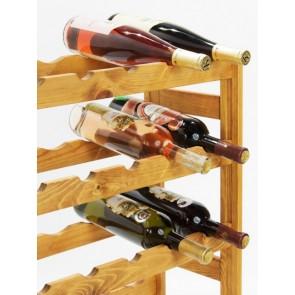Regál na víno Rendal, na 30 lahví, Lazur - kaštan, 86x53x25 cm