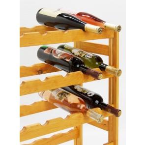 Regál na víno Rendal, na 30 lahví, Lazur - mahagon, 86x53x25 cm