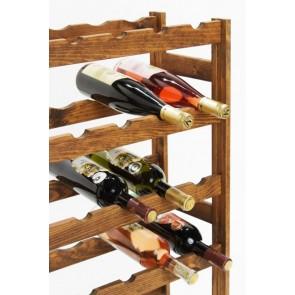 Regál na víno Rendal, na 30 lahví, Lazur - palisandr, 86 x 53 x 25 cm