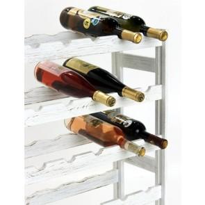 Regál na víno Rendal, na 30 lahví, Provance - bílý, 86x53x25 cm