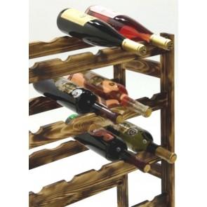Regál na víno Rendal, na 30 lahví, Rustikal, 86x53x25 cm