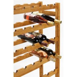 Regál na víno Roots, na 42 lahví, Lazur - kaštan, 102x62,5x25 cm