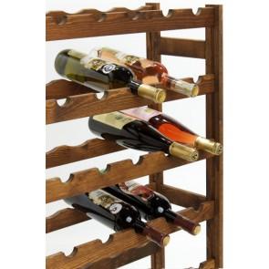Regál na víno Roots, na 42 lahví, Lazur - palisandr, 102x62,5x25 cm