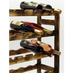Regál na víno Roots, na 42 lahví, Rustikal, 102x62,5x25 cm