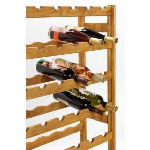 Regál na víno Raced, na 56 lahví, Lazur - kaštan, 118x73x25 cm