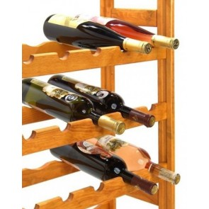 Regál na víno Raced, na 56 lahví, Lazur - mahagon, 118x73x25 cm