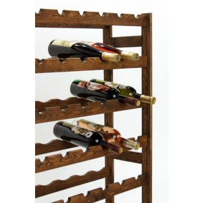 Regál na víno Raced, na 56 lahví, Lazur - palisandr, 118x73x25 cm