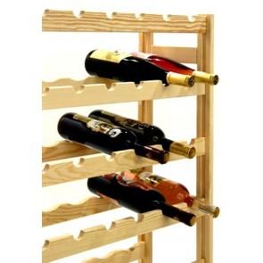 Regál na víno Raced, na 56 lahví, Natur, 118x73x25 cm