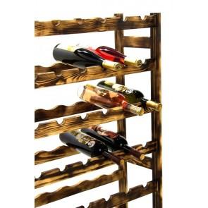 Regál na víno Raced, na 56 lahví, Rustikal, 118 x 73 x 25 cm