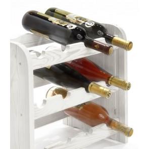 Regál na víno Roder, na 12 lahví, odstín Lazur - bílý, 38x42x27 cm