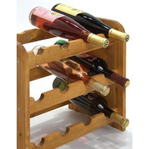 Regál na víno Roder, na 12 lahví, odstín Lazur - kaštan, 38x42x27 cm