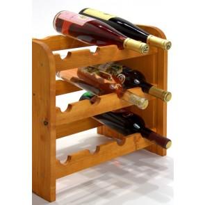 Regál na víno Roder, na 12 lahví, odstín Lazur - mahagon, 38x42x27 cm