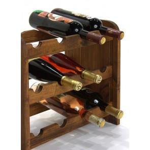 Regál na víno Roder, na 12 lahví, odstín Lazur - palisandr, 38x42x27 cm