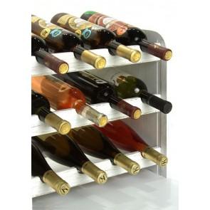 Regál na víno Roder, na 12 lahví, odstín Provance - bílý, 38x42x27 cm