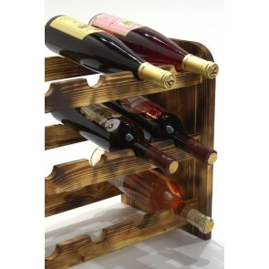 Regál na víno Roder, na 12 lahví, odstín Rustikal, 38x42x27 cm
