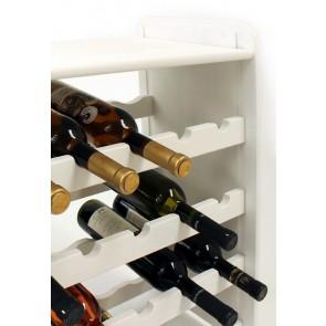 Regál na víno Rubit, na 24 lahví, odstín Lazur - bílý, 65x63x27 cm