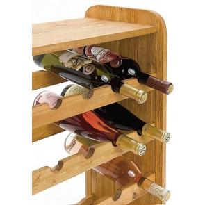 Regál na víno Rubit, na 24 lahví, odstín Lazur - kaštan, 65x63x27 cm