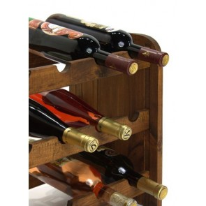 Regál na víno Rubit, na 24 lahví, odstín Lazur - palisandr, 65x63x27 cm