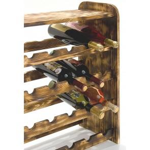 Regál na víno Rubit, na 24 lahví, odstín Rustikal, 65x63x27 cm