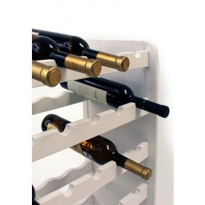 Regál na víno Rothis, na 30 lahví, odstín Lazur - bílý, 65x63x27 cm
