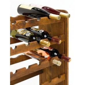 Regál na víno Rothis, na 30 lahví, odstín Lazur palisandr, 65x63x27 cm