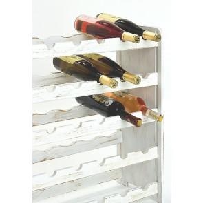 Regál na víno Rothis, na 30 lahví, odstín Provance bílý, 65x63x27 cm