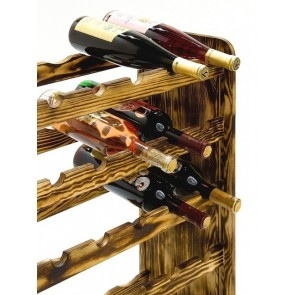 Regál na víno Rothis, na 30 lahví v odstínu Rustikal, 65x63x27 cm