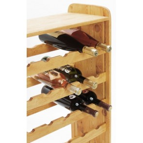 Regál na víno Robon, na 36 lahví, odstín Lazur - kaštan, 91x63x27 cm