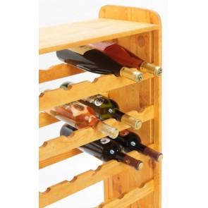 Regál na víno Robon, na 36 lahví, odstín Lazur - mahagon, 91x63x27 cm