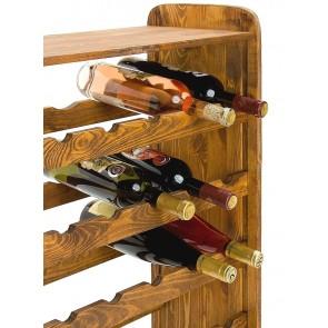 Regál na víno Robon, na 36 lahví, odstín Lazur - palisandr, 91x63x27 cm