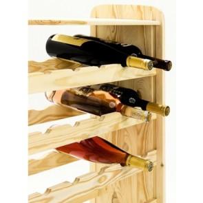 Regál na víno Robon, na 36 lahví, Natur, 91x63x27 cm